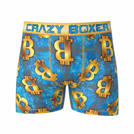 Bitcoin Design Underwear Blue Men's Boxer Briefs